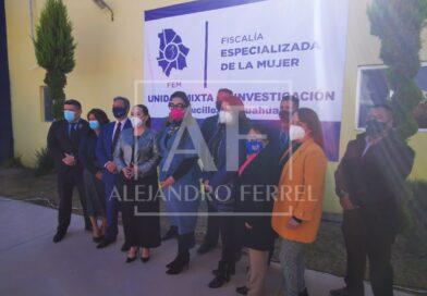 Inauguran alcaldesa y fiscal unidad mixta de la FEM en Saucillo