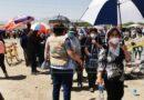 Cientos esperan la vacuna anticovid en Meoqui