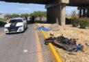 Muere motociclista al volcar en la carretera a Delicias