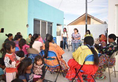 Realizan convivio con mujeres del Asentamiento Tarahumara en Meoqui