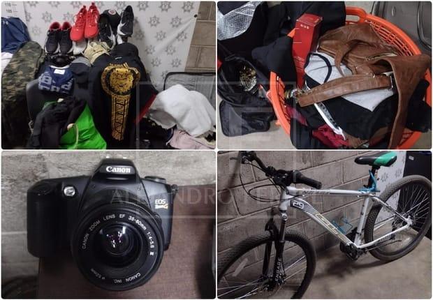 Asegura policía de Delicias artículos robados y detienen a uno