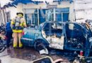 Arde automóvil y sufre pérdidas totales